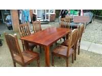 Beautiful dark wood Sheesham extending table