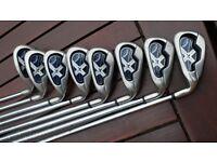 Callaway X18 irons 4-sw. regular uniflex shafts.