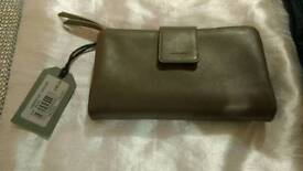 Ladies purse wallet - All Saints - Ash Grey - Bnwt - rrp £98