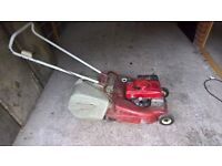 Mountfield / Honda petrol lawnmower with built in steel roller and large collector box