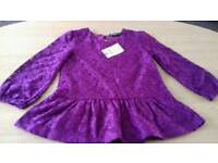 Girls top brand new age 3-4 years