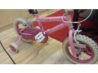 GIRL PRINCESS BIKE IN GOOD CONDITION R.R.P £55.00