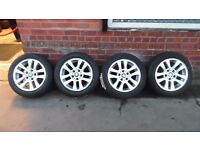 """16"""" ORIGINAL BMW ALLOY WHEELS AND TYRES SET OF 4"""