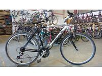 FALCON FREEDOM HYBRID BIKE 700C WHEELS 21 SPEED FRONT SUSPENSION SILVER/BLACK GOOD CONDITION
