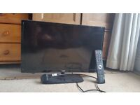 """TV PORTABLE. 21"""" SCREEN. FREEVIEW. BUILT-IN DVD PLAYER"""
