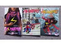 "MS. MARVEL - The first 3 volumes of the new ""Ms. Marvel"" superhero: Kamala Khan - CHEAP"