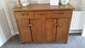 Chunky wooden sideboard