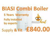 Biasi Combi Boiler £840 with full 5 Years Warranty FREE INSTALLATION/REPLACEMENT