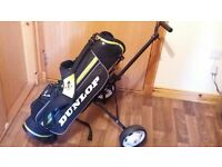 kids golf bag and trolley