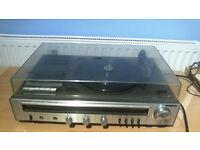 Vintage SANYO MUSIC CENTRE G1004 Vinyl Cassette Radio Player