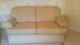 Two seater M&S sofa in great condition. Hardly used, very comfortable. Neutral / cream