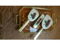 Tray with dressing table appoitments