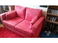 Nearly new Sofa Bed - Red