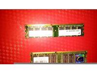 PC memory c2100 memory and 2x 512mb mem