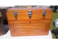 Original American Gerstner solid wood tool chest box