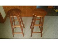 Brand new wooden bar stools