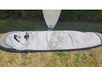 Bic 7'2 mini-mal surfboard with fins, leash and board bag