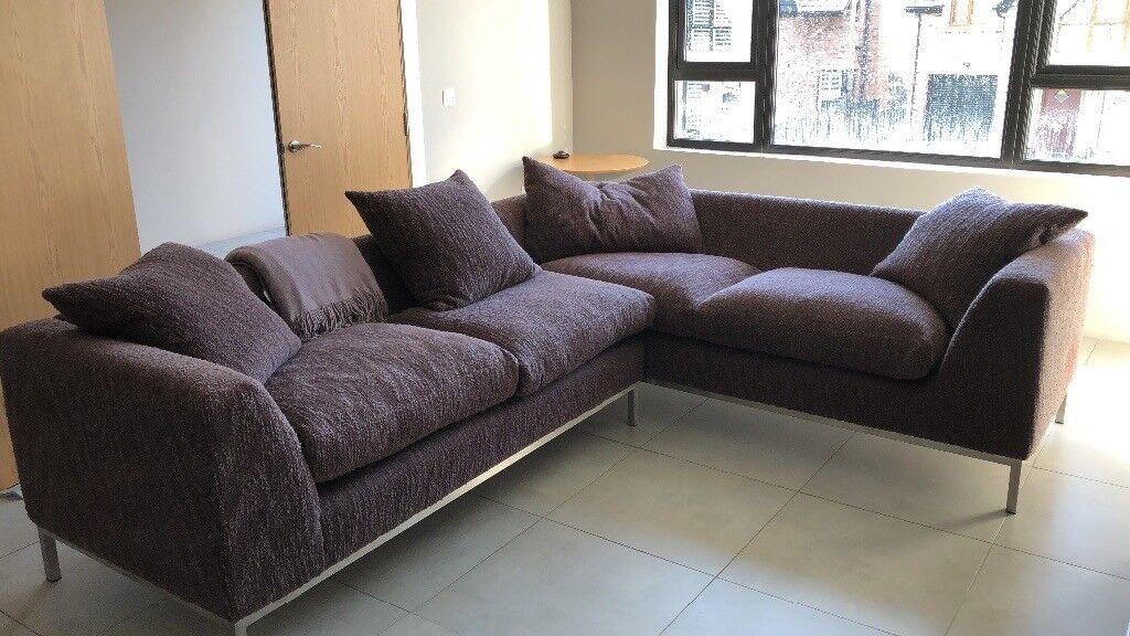 Sofa Workshop Large Aubergine Corner Sofa In Castlereagh Belfast