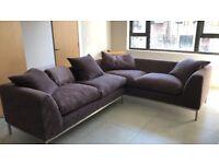 Sofa Workshop Large Aubergine Corner Sofa