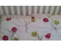 Two Duvet Pillowcases and matching Curtains