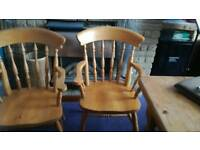 2x country style chairs