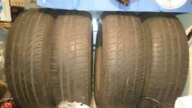 4 Wheel Rims &tyres 5×112. 195/65/r15