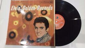 Elvis Presley Golden records very rare red label black spot album