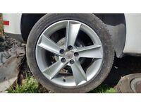 Wheels with tyres seat/skoda/audi/vw