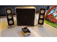 Logitech Z4 Subwoofer and Speakers