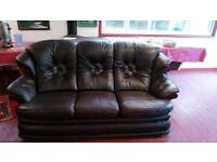 3 seater leather sofa and recliner rocking chair