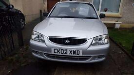2002 Hyundai ACCENT for sale. Mileage 93889