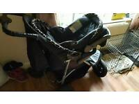 3 wheeler Black pram