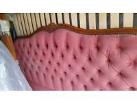 French double bed with new slatted base