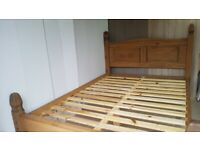 Mexican pine Double Bed - ltd free delivery