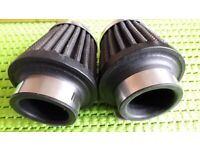 ONE PAIR OF CHROME MOTORCYCLE AIR FILTERS