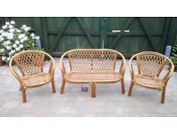 Whicker Chair Set - Settee and Two Chairs - Free