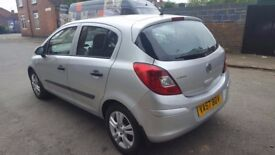 2007 57 VAUXHALL CORSA 1.2 BREEZE 5 DOOR SILVER