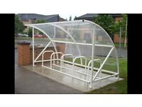 Bicycle shelter. (Similar to photo. Colour Blue)