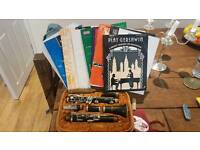 Clarinet and several assorted music books