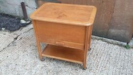 Large Vintage Retro Sewing Box Work Box Trolley