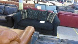 PRE OWNED Sofabed in Black / Brown Fabric