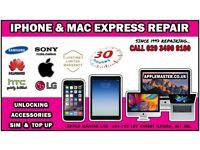 Apple Mac, iPhone, iPad Express Screens & Repairs in 30 Minutes: 11 Pro, X, Xs Max, X, 8, 7, 6, Air