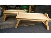 Folding lap trays