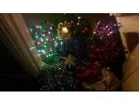 Xmas decoratons bundle +lights £10-00
