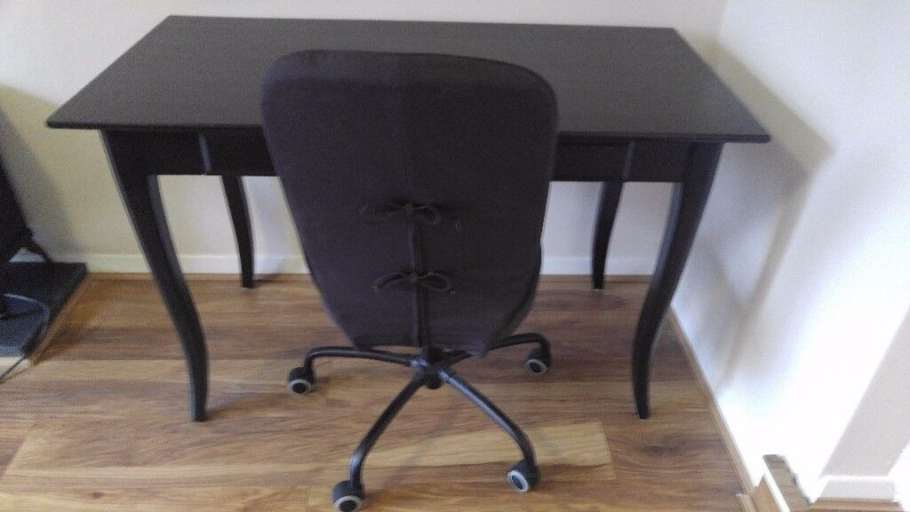 Ikea desk and swivel chair