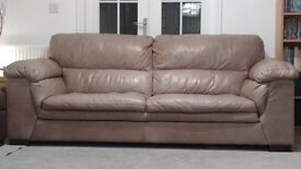 Large DFS Kemble leather sofa