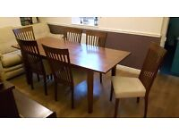 Morris furniture - Dining table + 6 chairs