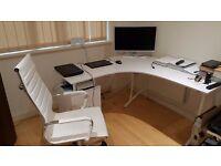 White corner table Until 1 November