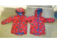 Twin boys waterproof jacket 3-4