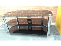 Large Modern black/silver TV stand